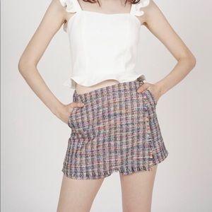 Zara Shorts - Zara tweed wrapped skort multi size medium